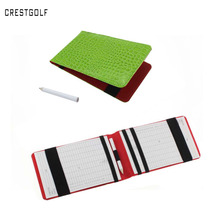 Promotion  Price Popular Golf Score Card Holder Easy Carry Golf Gifts with green and black for choice(China (Mainland))