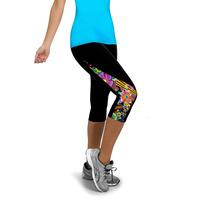 Women Yoga Pants Sports Elastic Wicking Exercise Tight Calf Length Pants Female Elastic Fitness Running Yoga Pants Slim Leggings