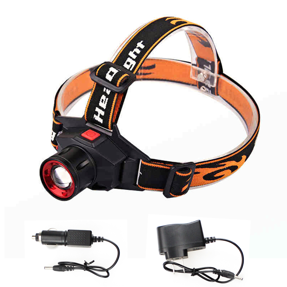 LED Headlamp Cree Q5 Headlight Waterproof 1000lm Built-in Lithium Battery Rechargeable Head lamp 3 Modes Zoomable cabeza lampara<br><br>Aliexpress