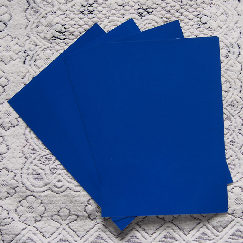 (A4*4pcs) Blue Color PU Vinyl Heat Transfer Vinyl For Clothing Iron On Vinyl PU Film for T shirt Vinyl Textil For Heat Press 602(China (Mainland))