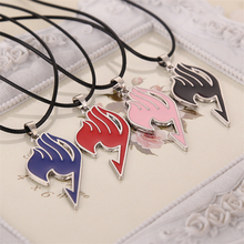 Buy Fairy Tail necklace guild logo tattoo pendant Anime fashion jewelry leather rope men women wholesale for $1.13 in AliExpress store