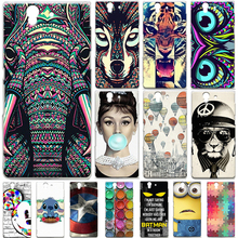 Buy Sony Xperia Z Phone Case C6603 C6602 Cartoon Painted Hard Phone Back Protective Skin Back Cover Coque Sony Xpeira Z L36H for $2.13 in AliExpress store