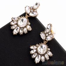 Vintage Women Earrings Crystal Insert Earrings Rhinestone Ear Studs 2MQA 2OOP