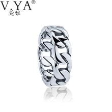 VYA 925 Серебряное Кольцо для Женщин 100% Реального S925 Чистого Серебра Кольца для Любителей Мужчины Ювелирные Изделия HYR14(China (Mainland))