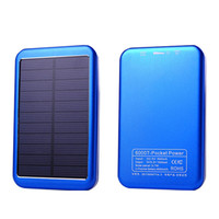 1 Pcs 8000mah Solar Power Bank USB External Battery Solar Charger Powerbank Universal