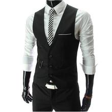 2016 New Arrival vestido coletes para homens Slim Fit Mens terno colete masculino colete Gilet Homme ocasional mangas Formal jaqueta de negócios