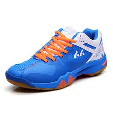 2016 Badminton Shoes Men Leather Badminton Tennis Men Red/Blue Court Shoes Badminton Mens Indoor Sneakers Shoes Size 39-44