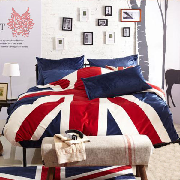 buy duvet cover bed sheet pillowcase 4pcs lot sp1171 british flag print short. Black Bedroom Furniture Sets. Home Design Ideas