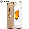 Silicone Cover Case For iPhone 7 Coque 3D Bling Rhinestone Swan Peacock Soft TPU Back Cover