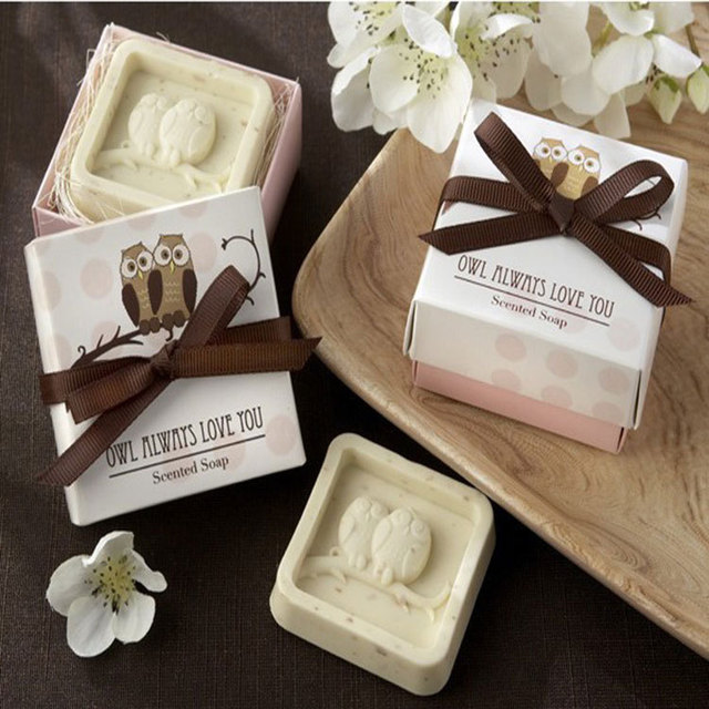 Wedding Gifts For Over 40 : 40Sets/Lot Mini Owl Soap Wedding Gifts For Guests Kits Party Supplies ...