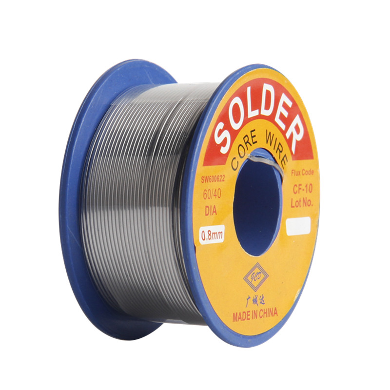 Solder Wire 0.8mm 60/40 Diamneter Free Clean Rosin Core Low Melting Point High Brightness Soldering Tools