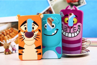 3D Cute Silicone Cheshire Tiger Alice Cat Monsters Inc.slinky dog Cartoon Phone Case Cover For LG G2 D802 D800 D803 VS980 LS980