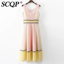 Mesh Patchwork Maxi Dresses Long Sleeveless Summer Sundress 2016 A-Line Dress Fashion Womens Sexy Dresses Party Night Club Dress(China (Mainland))
