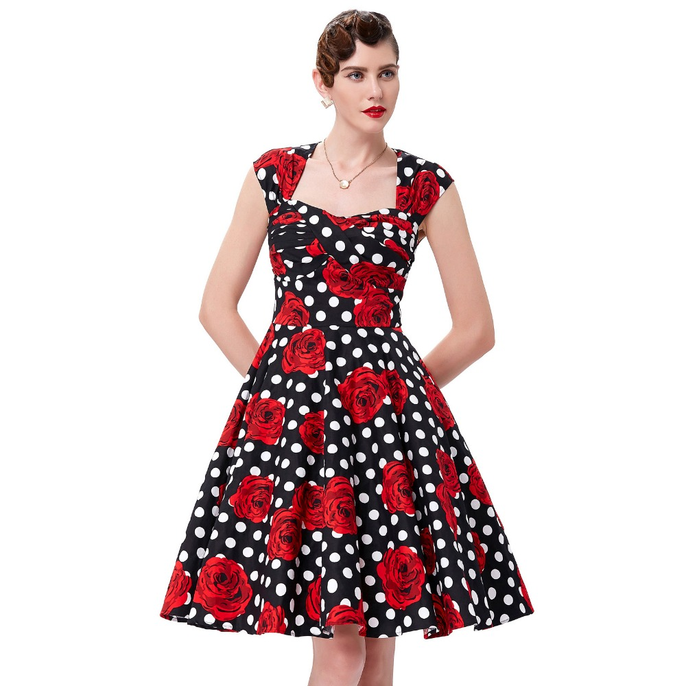 Perfect Style Black Dress Womens Clothing Retro Vintage 50s Dresses Woman