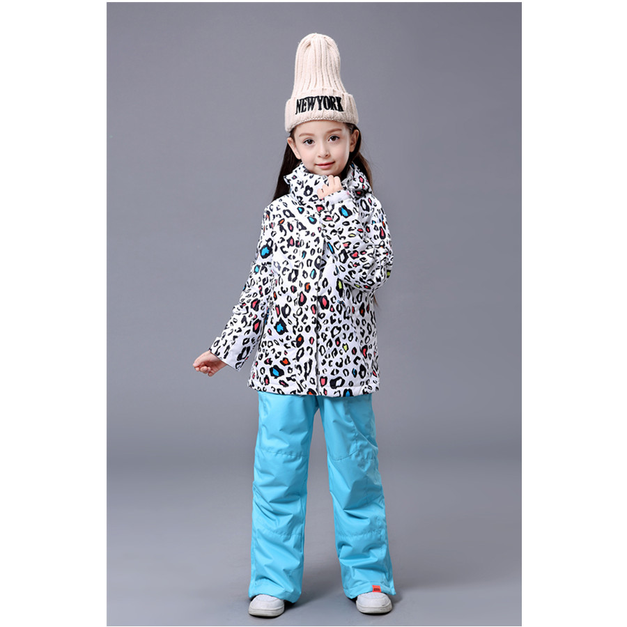 Freeing Shopping children's girls ski suits Outerwear Warm Coat Sporty Kids Clothes Sets Waterproof Windproof skiing Jackets(China (Mainland))