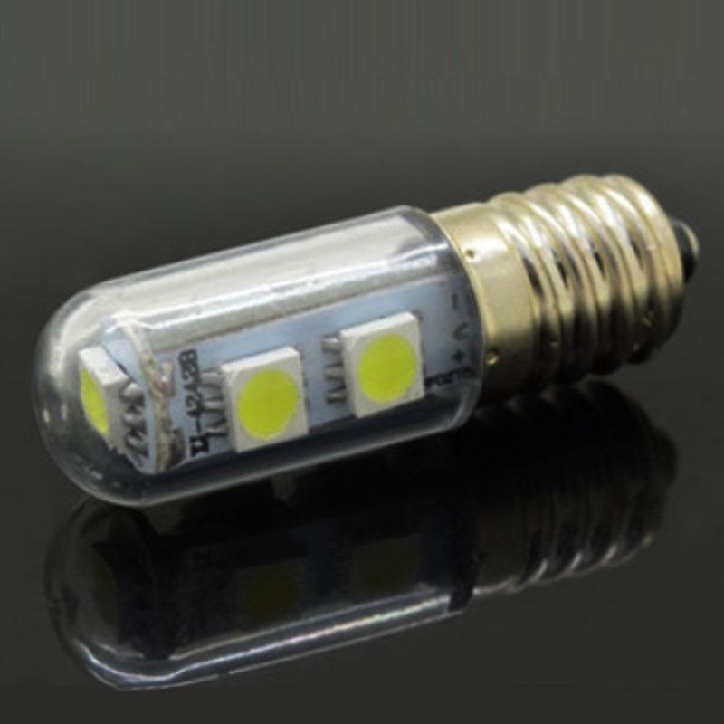 Гаджет  1x Ultra-small 7 LED E14 Lamp 220V 1W SMD 5050 Crystal Spot Light Fridge Refrigerator Indicator Night Desk Reading Corn Bulb None Свет и освещение