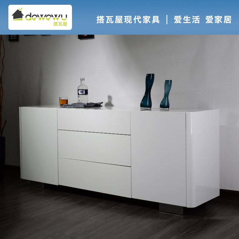 Take tile special white paint modern minimalist ikea for Sideboard ikea