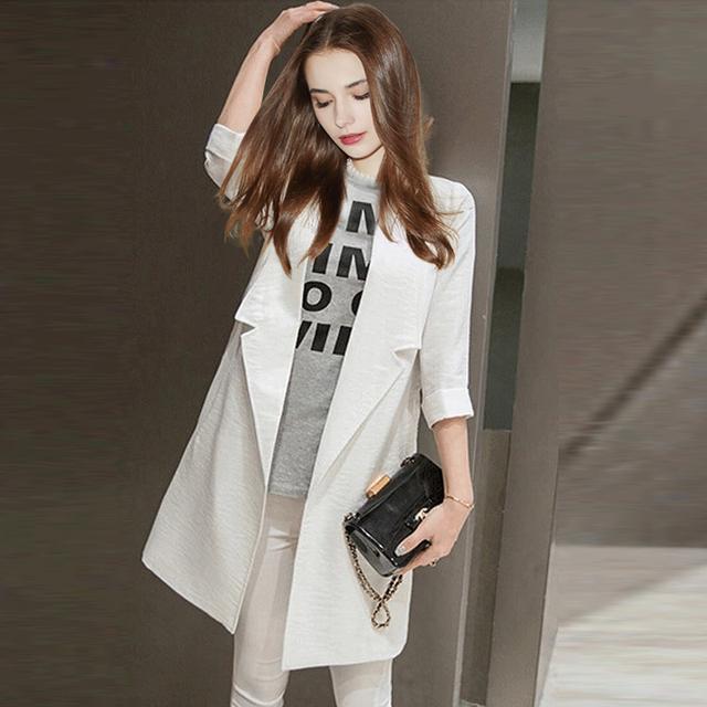2015 новые зимние пальто куртки женщины тонкий слой в-корейски три четверти рукав ...