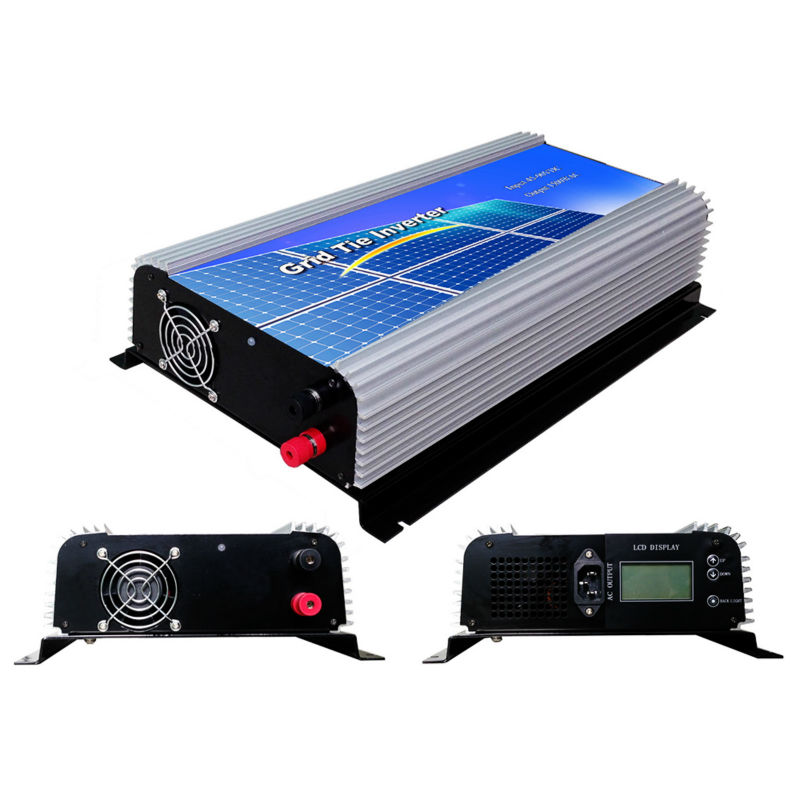 1500W Grid Tie Power Inverter Pure Sine Wave inverter 1.5KW 45-90V DC to AC 110Vac Solar grid tie Inverter with LCD display(China (Mainland))
