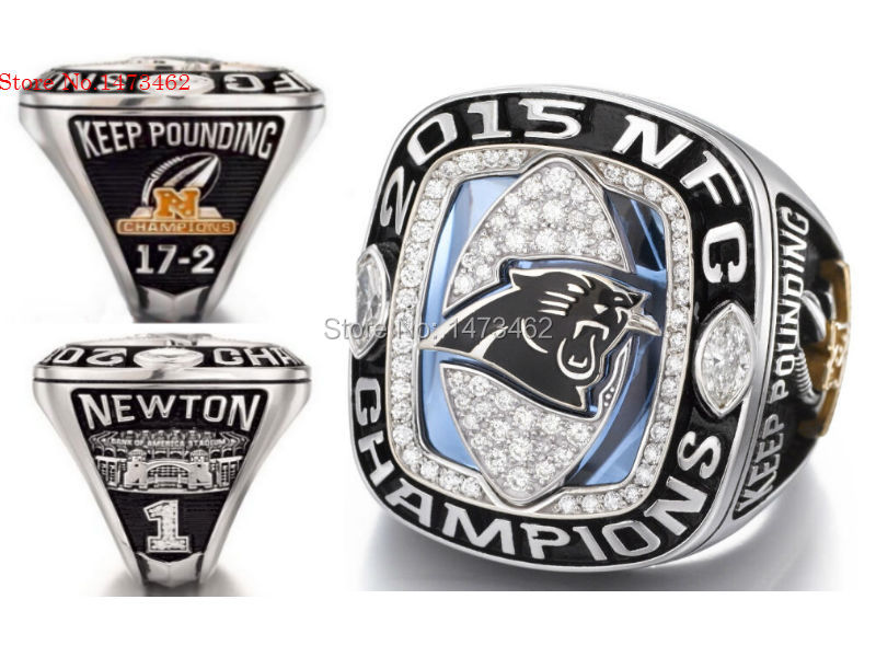 Pre-sale 2015 2016 Carolina Panthers NFC national football Championship Rings solid back as best fans gift(China (Mainland))