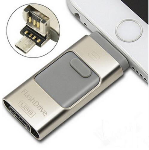 for appie for iphone 6 s usb flash drive 128GB 256GB 512GB usb stick 4.5 + OTG Pendrive U Disco 3 em 1 memory stick USB(China (Mainland))