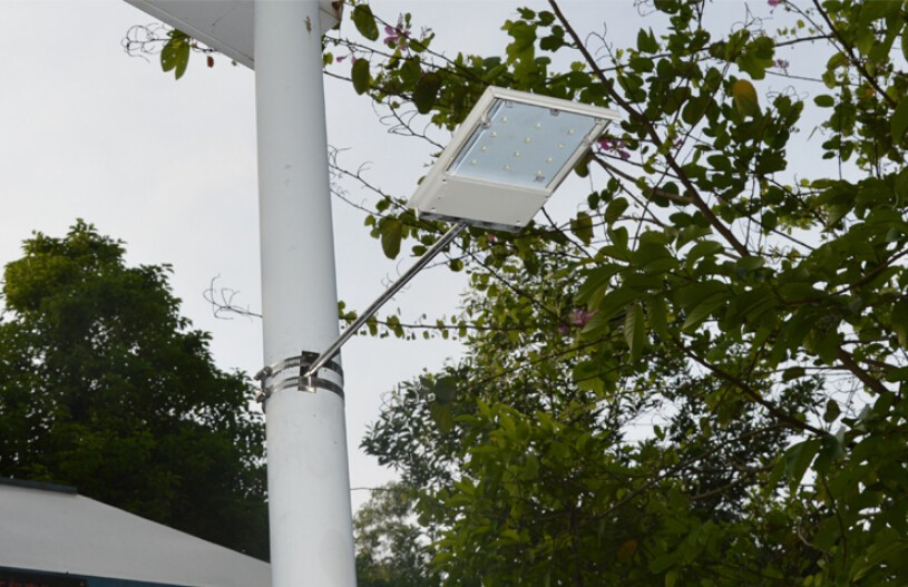 12 LED energia Solar painel de LED luz de rua Solar Sensor de