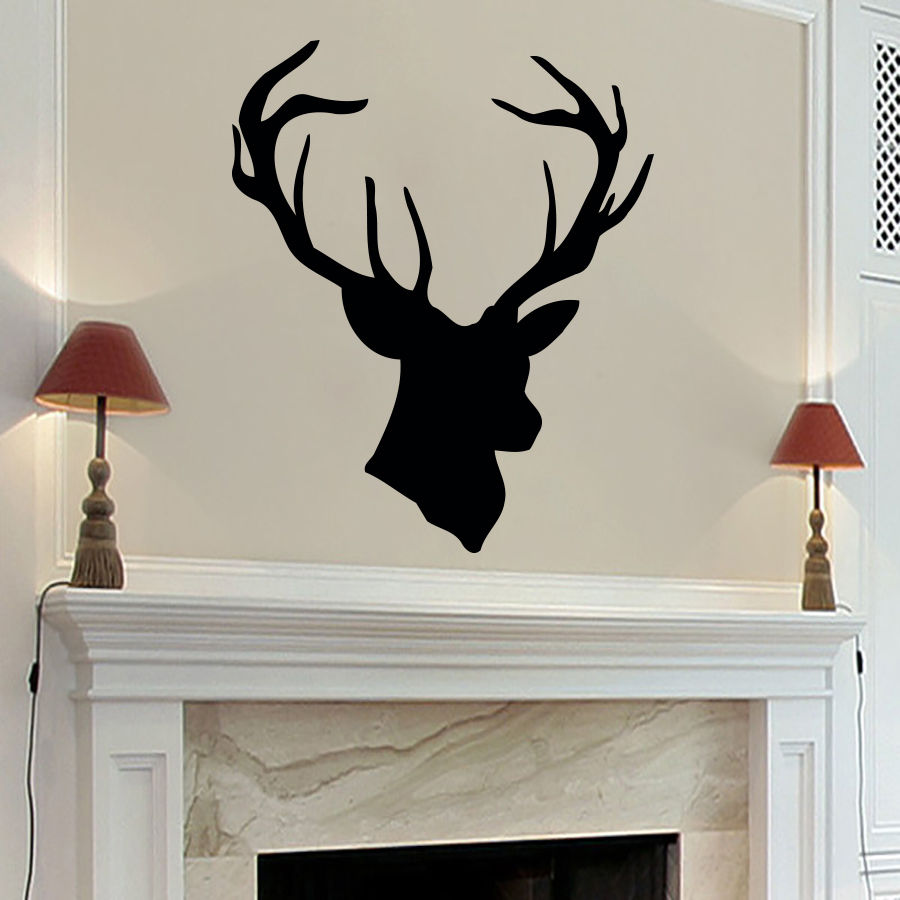 High Quality Vinyl Wall Sticker Home Decoration Deer Antlers Nursery Room Wall Sticker Art Stickers Home Decor Mural A-66(China (Mainland))