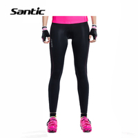 Santic Women Cycling Pants Spring Summer Breathable Anti-sweat Quick Dry Bicycle Bike Pants Riding Trousers 4D Padded Tights