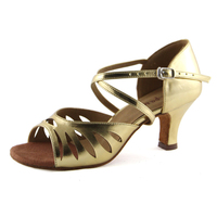 2014 soft outsole dance shoes in the high-heeled of gold /silver/ black women's dance shoes Latin dance shoes 6.5cm heel