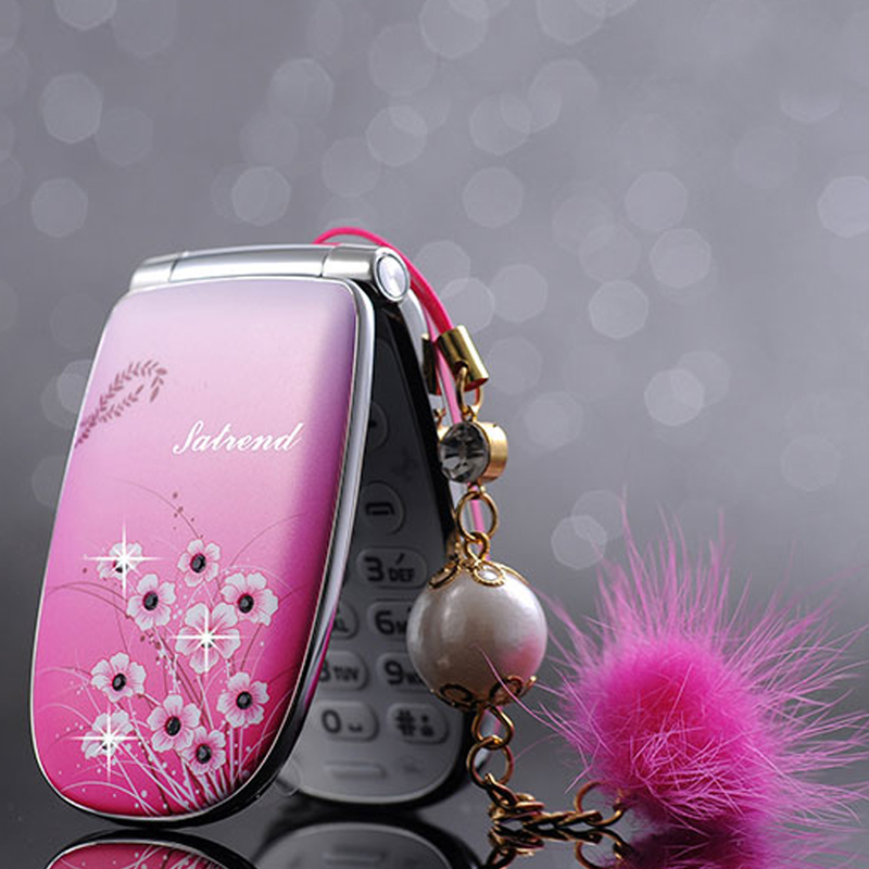 Unlocked small woman kids girls cute Vibration flower diamand FM MP3/MP4 Camera Recorder mini cell mobile phone cellphone P070(China (Mainland))