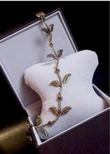 1 PC Fashion Gold Alloy Romantic Olive Branch Leaves Head Bands For Women Elastic Hair Accessories Jewelry(China (Mainland))