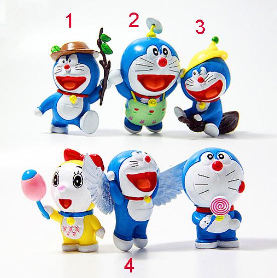 DHL 30Sets/lot New Arrival 6pcs/set 5.5cm Doraemon Action Figure PVC Toys Classic Dolls Gift For Kids Free Shipping<br><br>Aliexpress