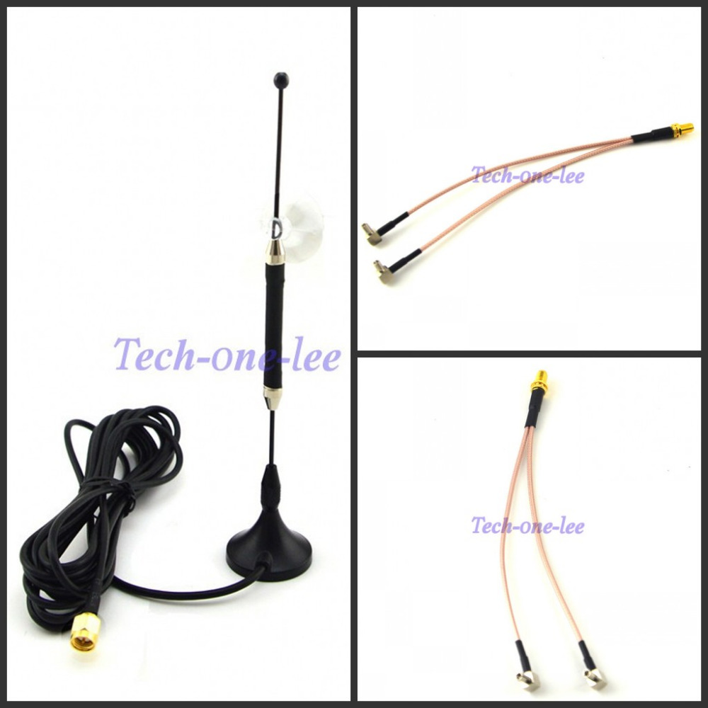 4G 10dbi LTE Antenna 3g 4g lte Aerial 698-960/1700-2700Mhz SMA Male RG174 3M+ SMA Female to Y type 2 X TS9 Male RG316 Cable 15cm(China (Mainland))