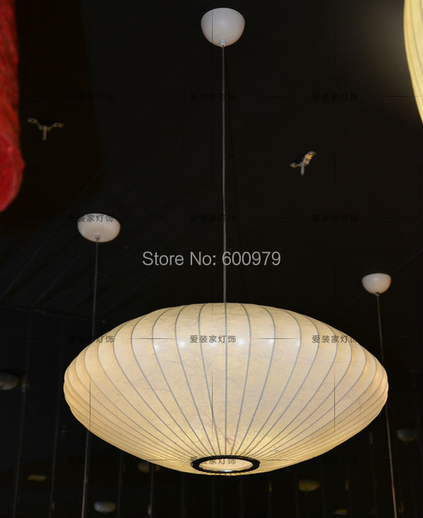Free shipping dia 300mm Nelson Saucer Pendant Lamp Vintage Silk Pendant lights Suspension Dining room Lighting Fixture(China (Mainland))