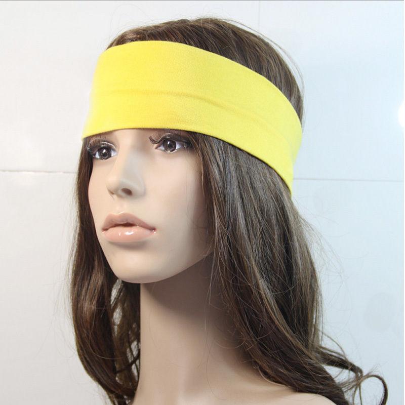 Hot Fashion Women Lady Girl Yoga Terylene Elastic Hair Bands Hairbands Outdoor Sport Exercise Headband Cool(China (Mainland))