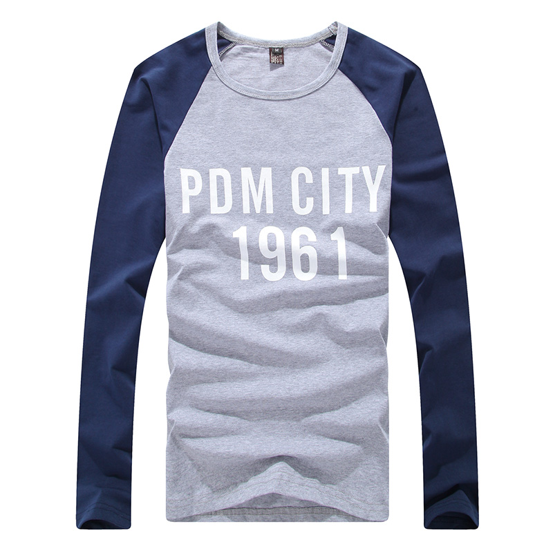 2014 autumn long sleeve famous brand mens casual full for Long length long sleeve t shirts
