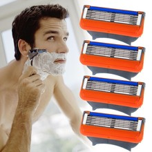 Brand Quality Men Blade 4pcs/lot Fusione Power 5 shaving razor blades for razor Grade AAA+ Standard for RU&Euro&US