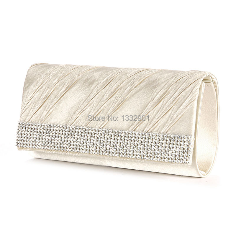 Diamante Frill Clutch Women Chain Purse Evening Bag Wedding Hand Carry Bag(China (Mainland))