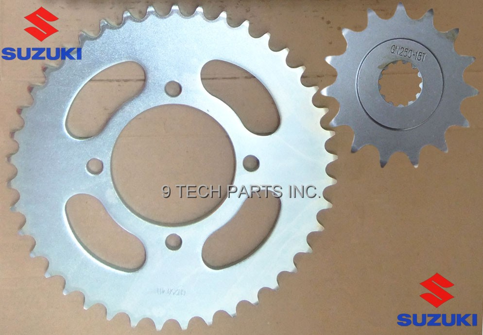 NEW FREE SHIPPING! Suzuki GN250 FRONT AND REAR SPROCKET GN250 41T 15T