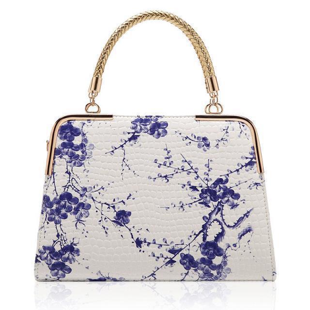 2015 New Blue and White Porcelain Handbags Women Tote Ladies Shoulder Bags Bolsas de Hombro Feminina XA276A<br><br>Aliexpress