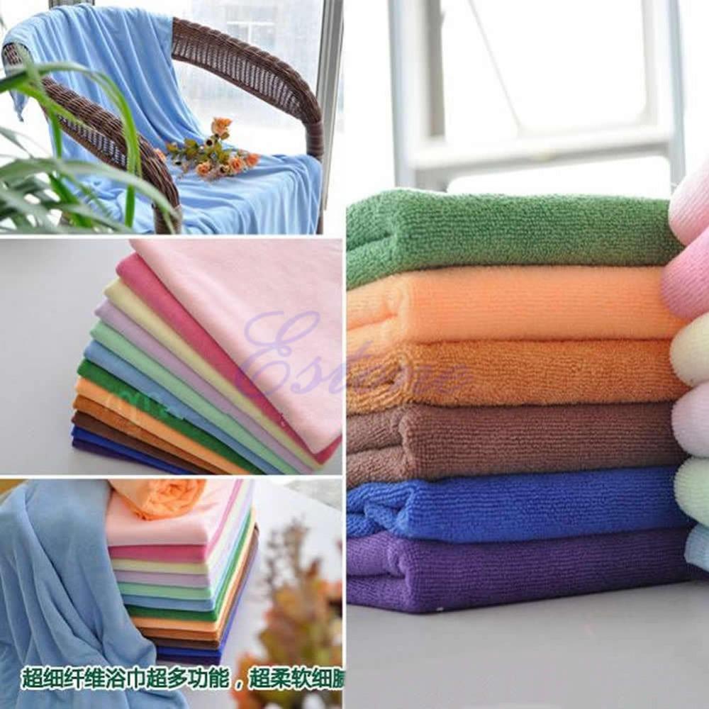 Free Shipping 1pc Microfiber Absorbent Bath Beach Towel 70x140cm Drying Washcloth Swimwear Shower(China (Mainland))
