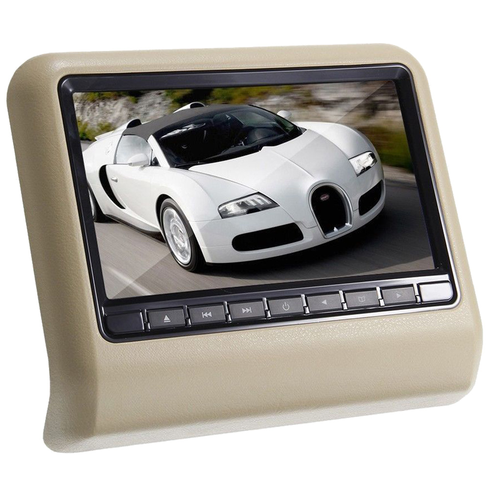 AUTO 9 inch HD Digital LCD Screen DVD Car Headrest Monitor Beige  -  AU's Department Store store