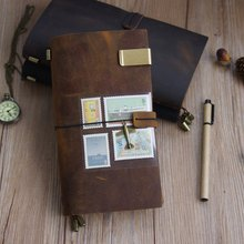 Vintage Midori style Travel Notebook Leather Genuine Leather Notepad Cowhide dairy journal
