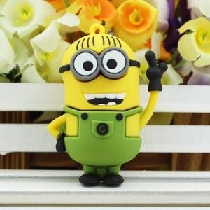 minions minion usb 2.0 stick 64gb flash drive usb flash pen drives 64 gb pendrive pen drive 32 gb gift gifts free shipping(China (Mainland))