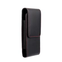 New Red border Top grade Universal Holster Skin Waist hanging Belt Clip Leather Pouch Cover Case For Doov V1 Nike V1