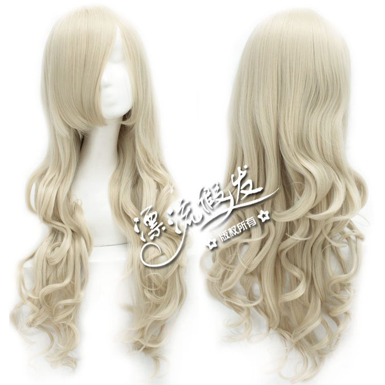 Гаджет  Milky cartoon wig hot line 80 centimeters long curly hair and amazing airflow  None Изготовление под заказ