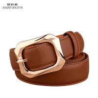 [BAIXUANJUN]Ms. pin buckle belt new leather belt leather 2016 new arrival women's luxury brand of high quality belts jeans belt