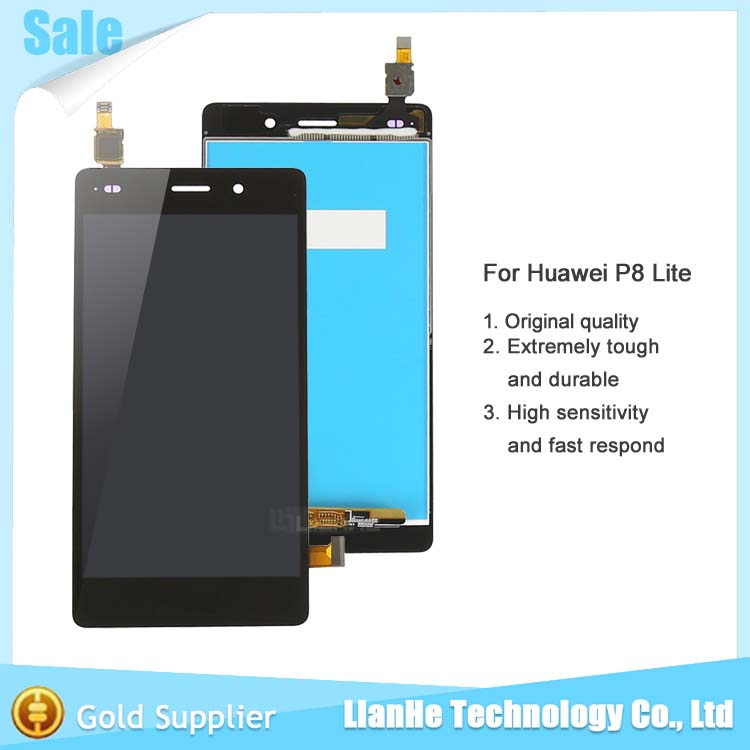 for Huawei P8 Lite LCD Screen 100% Original LCD display+Touch Panel replacement For 5.0 inch for Huawei Ascend P8 Lite(China (Mainland))