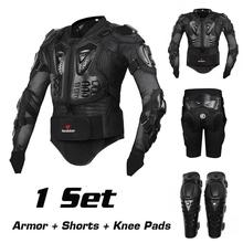 Motorcycle Riding Armor Protective Gear Motocross Off-Road Enduro Racing Full Body Protector Jacket + Hip Pad Shorts + Knee Pads(China (Mainland))