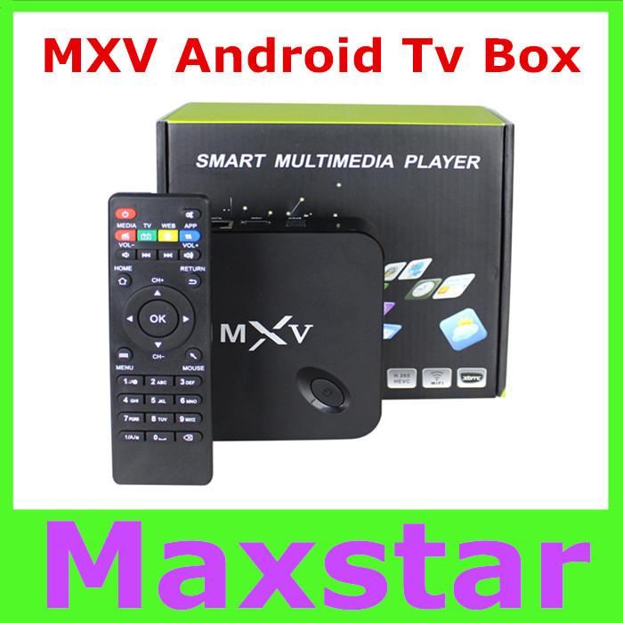 MXV Quad Core Android TV BOX Amlogic S805 1GB/8GB Cortex 1.5 GHZ Android 4.4 KODI WIFI Bluetooth H.265 HEVC Media Player(China (Mainland))